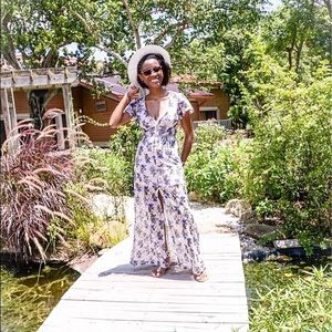 Forever 21 Short Sleeve Lacey Maxi Dress